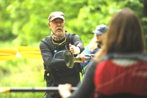 kayak instructor demonstration