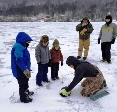 Ice fishing with Alan